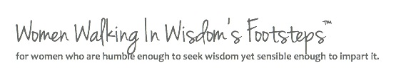 Logo Women Walking In Wisdom's Footsteps™